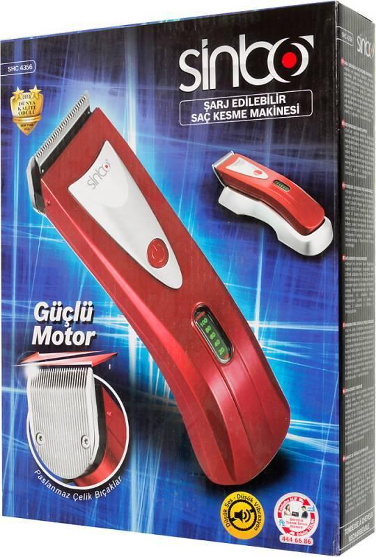 Машинка для стрижки Sinbo SHC 4356 красный - фото 7