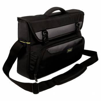 Сумка для ноутбука Targus CityGear TCG270EU черный, синтетика, рекомендуемая диагональ 17.3, не съемный ремень, карманов внешних: 3шт, карманов внутренних: 5шт
