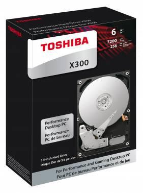 Жесткий диск Toshiba X300 HDWE160EZSTA, объем 6Tb, форм-фактор 3.5, буферная память 128МБ, скорость вращения шпинделя 7200 об/мин, интерфейс SATA-III