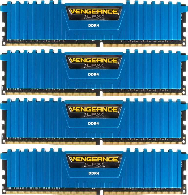 Модуль памяти DIMM DDR4 4x4Gb Corsair CMK16GX4M4A2400C14B - фото 1