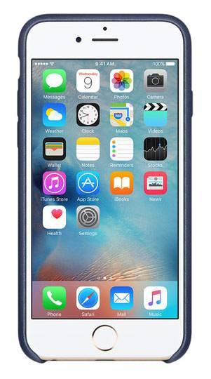 Чехол Apple MKXU2ZM/A, для Apple iPhone 6S, темно-синий - фото 2