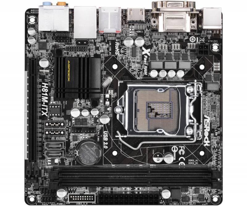 Материнская плата Asrock H81M-ITX Soc-1150 mini-ITX - фото 2