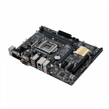 Материнская плата Asus H110M-C, гнездо процессора LGA 1151, чипсет Intel H110, память 2xDDR4, форм-фактор mATX, звук AC`97 8ch(7.1), разъемы GbLAN+VGA+DVI