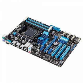 Материнская плата Asus M5A97 PLUS, гнездо процессора SocketAM3+, чипсет AMD 970, память 4xDDR3, форм-фактор ATX, звук AC`97 8ch(7.1), RAID, разъемы GbLAN
