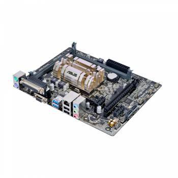 Материнская плата Asus N3050M-E, память 2xDDR3, форм-фактор mATX, звук AC`97 8ch(7.1), разъемы GbLAN+VGA+HDMI