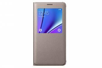 Чехол (флип-кейс) Samsung S View золотистый, для Samsung Galaxy Note 5 (EF-CN920PFEGRU)