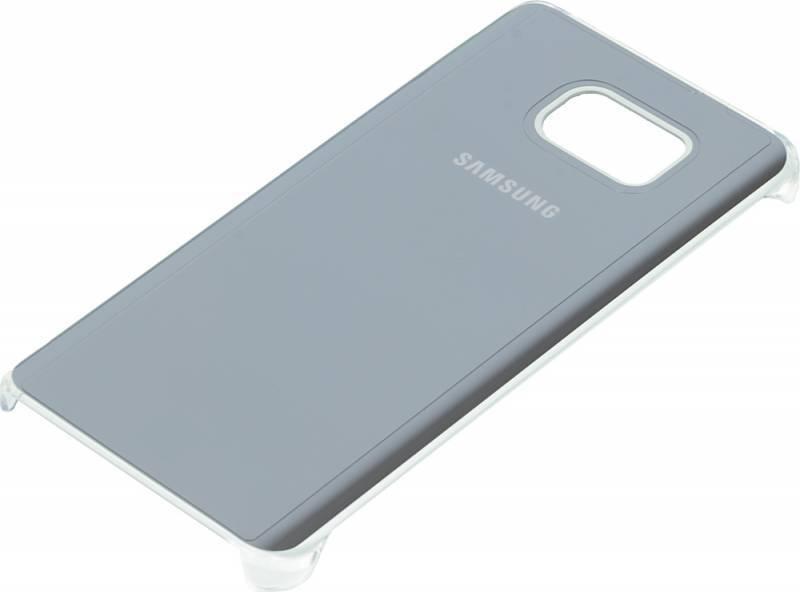 Чехол (клип-кейс) Samsung Glossy Cover серебристый/прозрачный - фото 1