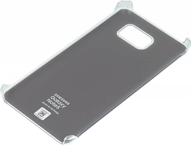 Чехол (клип-кейс) Samsung Glossy Cover серебристый/прозрачный - фото 2