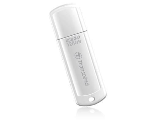 Флеш диск Transcend Jetflash 730 128ГБ USB3.0 белый (TS128GJF730) - фото 1