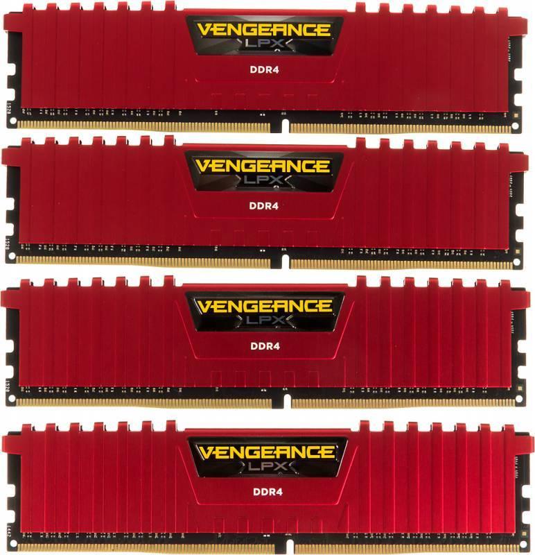 Модуль памяти DIMM DDR4 4x4Gb Corsair CMK16GX4M4A2400C14R - фото 2
