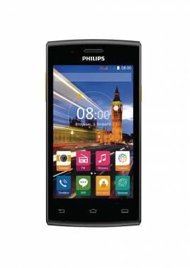 Смартфон Philips S307 4Gb черный/желтый моноблок 3G 2Sim 4 800x480 Android 4.4 2Mpix WiFi BT GPS GSM900/1800 GSM1900 TouchSc MP3 A-GPS microSDHC max32Gb (867000131442)