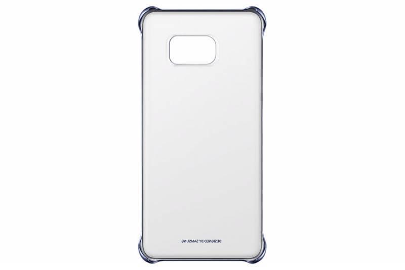 Чехол Samsung ClearCover G928, для Samsung Galaxy S6 Edge Plus, темно-синий/прозрачный (EF-QG928CBEGRU) - фото 1