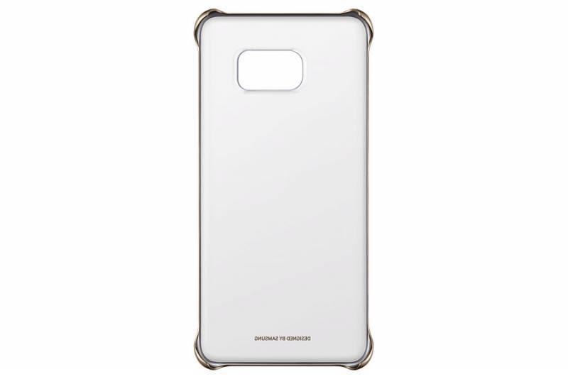 Чехол Samsung ClearCover G928, для Samsung Galaxy S6 Edge Plus, золотистый/прозрачный (EF-QG928CFEGRU) - фото 1