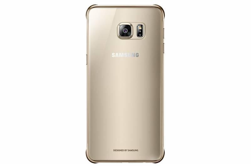 Чехол Samsung ClearCover G928, для Samsung Galaxy S6 Edge Plus, золотистый/прозрачный (EF-QG928CFEGRU) - фото 3