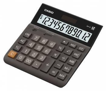 Калькулятор настольный Casio DH-12 коричневый (DH-12-BK-S-EH)