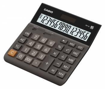 Калькулятор настольный Casio DH-16 коричневый (DH-16-BK-S-EH)
