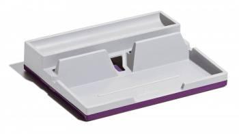 Органайзер настольный Durable 7613-12 Varicolor 190x50x240мм фиолетовый / серый