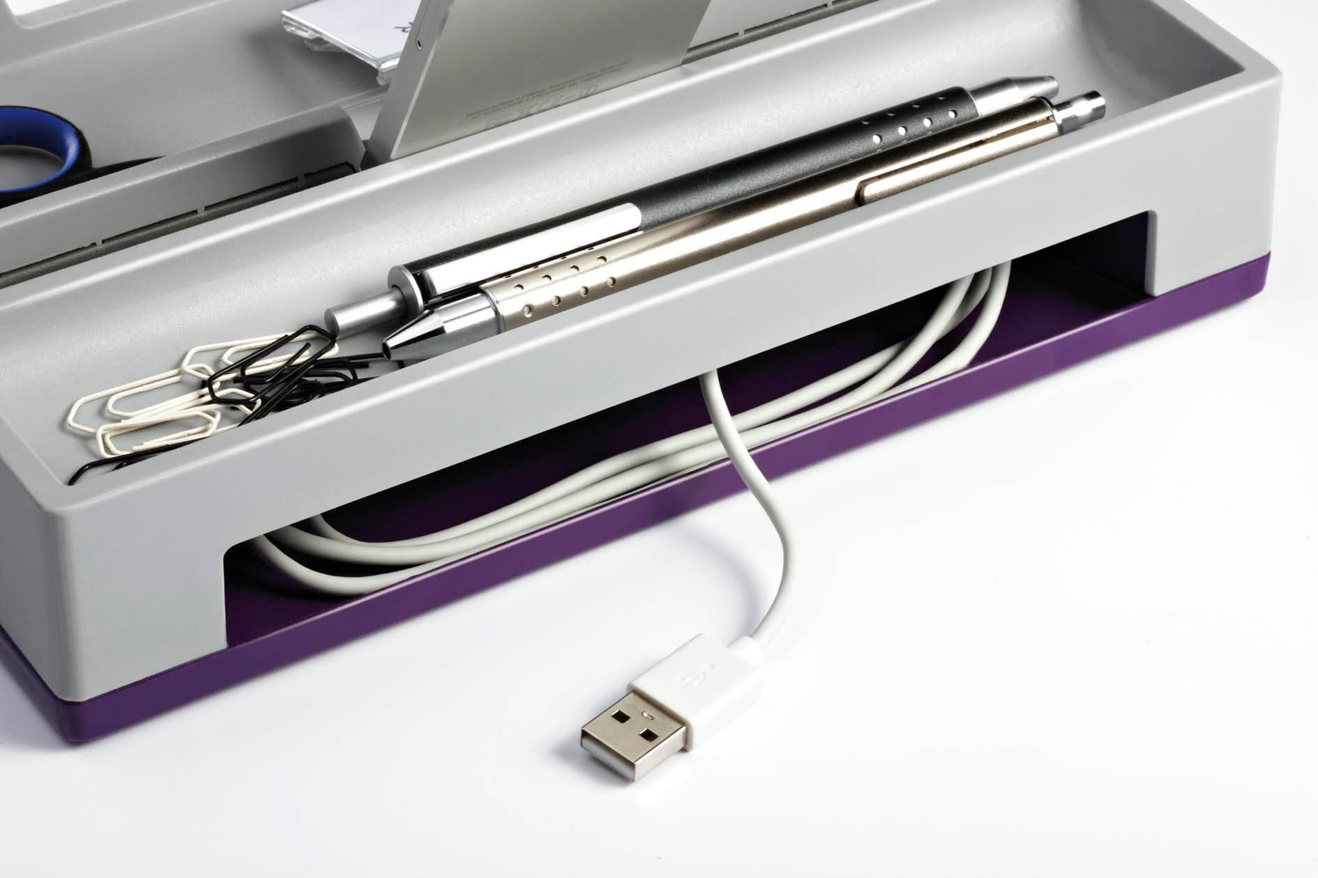 Органайзер настольный Durable 7613-12 Varicolor фиолетовый/серый - фото 4