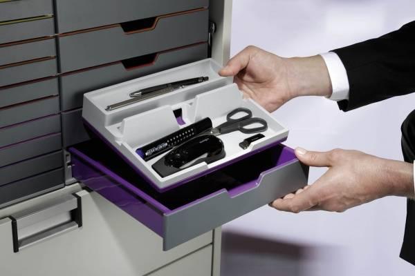 Органайзер настольный Durable 7613-12 Varicolor фиолетовый/серый - фото 5