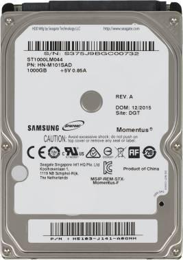 Жесткий диск Seagate Samsung ST1000LM044, объем 1Tb, форм-фактор 2.5, буферная память 32МБ, скорость вращения шпинделя 7200 об/мин, интерфейс SATA-II