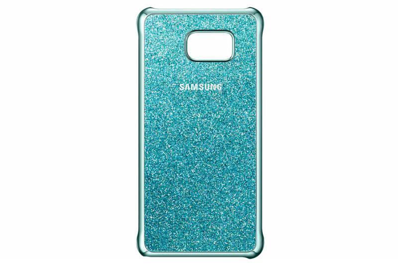 Чехол (клип-кейс) Samsung Glitter Cover синий - фото 1