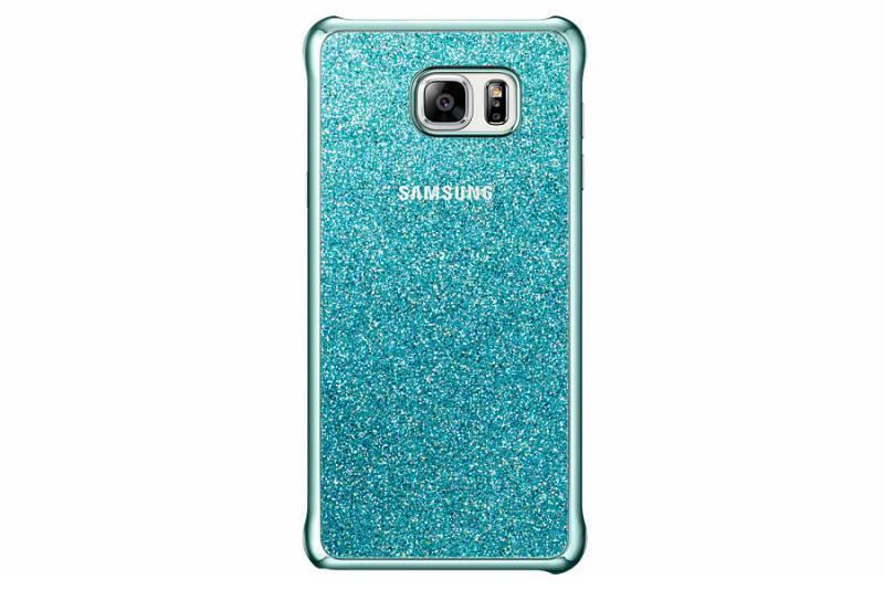 Чехол (клип-кейс) Samsung Glitter Cover синий - фото 2