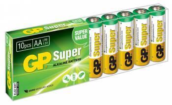Батарея AA GP Super Alkaline 15A LR6 (10шт)