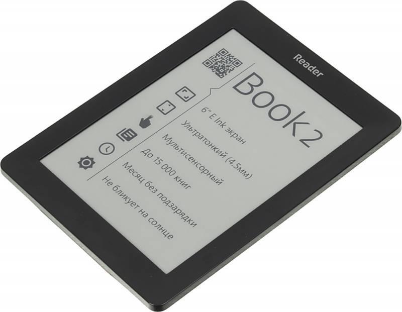 """Электронная книга 6"""" Reader Book 2 черный - фото 3"""