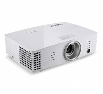 Проектор Acer X1385WH белый, технология DLP, яркость 3400Lm, разрешение 1280x800, контраст 20000:1, ресурс лампы до 4000 часов, 1xHDMI, вес 2.2кг