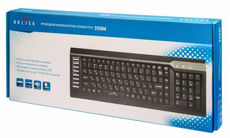 Клавиатура Oklick 350M черный - фото 5