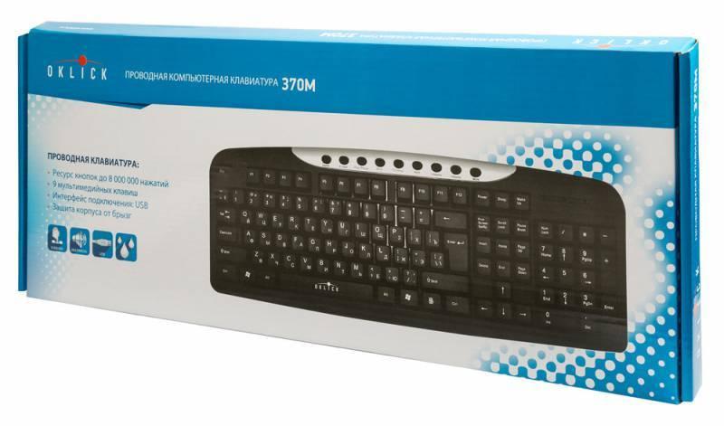 Клавиатура Oklick 370M черный/серебристый (8139) - фото 4