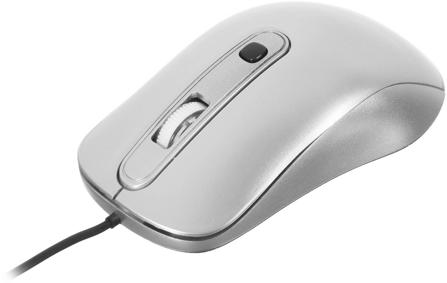 Мышь Oklick 155M серебристый - фото 4