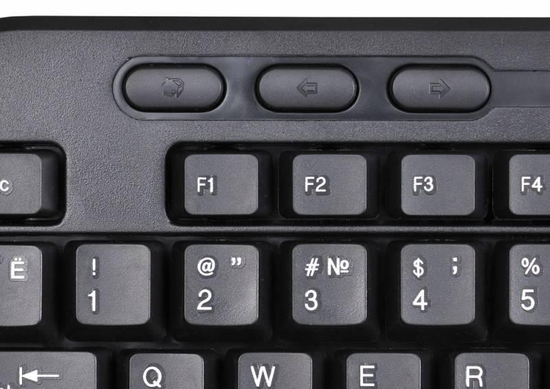 Клавиатура Oklick 390M черный - фото 4