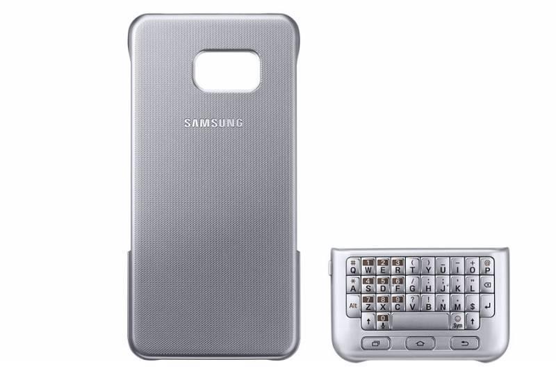 Чехол Samsung Keyboard Cover, для Samsung Galaxy S6 Edge Plus, серебристый (EJ-CG928RSEGRU) - фото 1