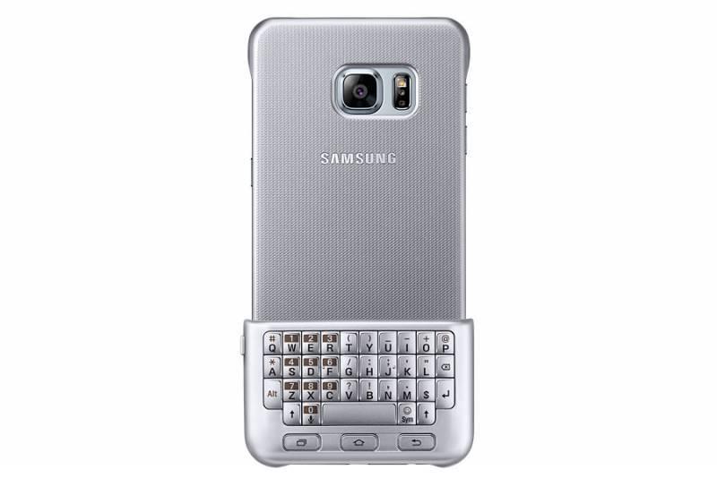 Чехол Samsung Keyboard Cover, для Samsung Galaxy S6 Edge Plus, серебристый (EJ-CG928RSEGRU) - фото 2
