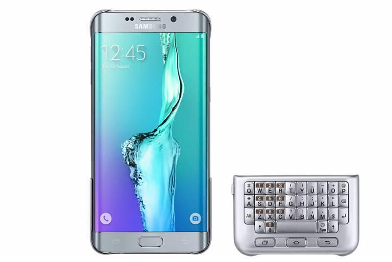 Чехол Samsung Keyboard Cover, для Samsung Galaxy S6 Edge Plus, серебристый (EJ-CG928RSEGRU) - фото 3