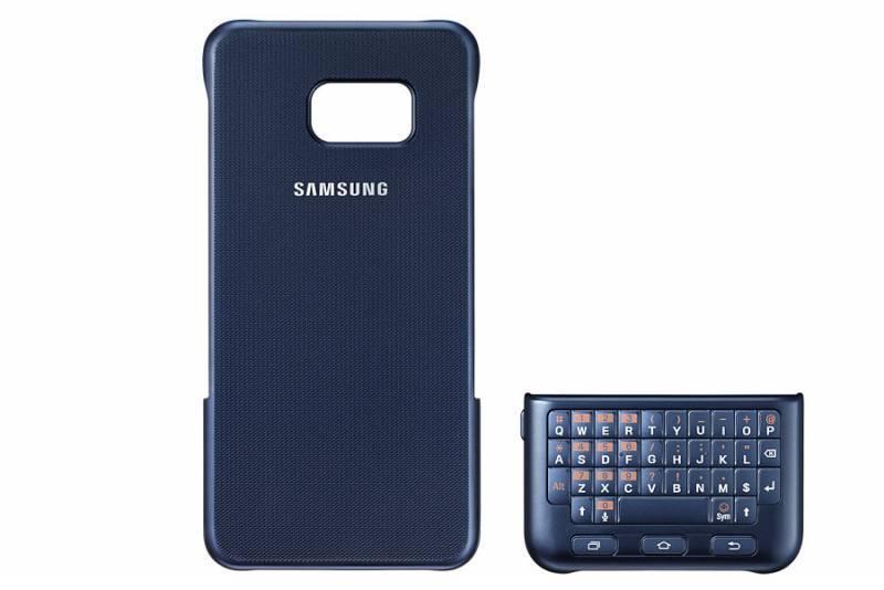 Чехол Samsung Keyboard Cover, для Samsung Galaxy S6 Edge Plus, черный (EJ-CG928RBEGRU) - фото 1