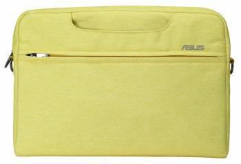 Сумка для ноутбука Asus EOSSHOULDERBAG желтый, полиэстер, рекомендуемая диагональ 12, съемный ремень (90XB01D0-BBA020)