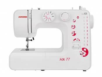 Швейная машина Janome MX 77 белый, электромеханическая, челнок вертикальный, полуавтоматическое выполнение петель