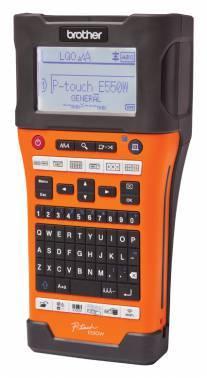 Принтер для печати наклеек Brother P-touch PT-E550WVP оранжевый/черный (PTE550WVPR1)