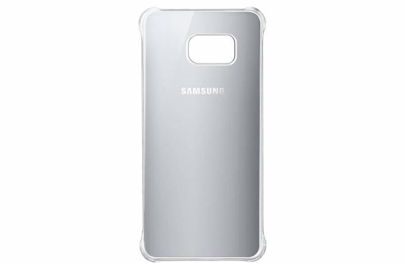 Чехол Samsung Glossy Cover, для Samsung Galaxy S6 Edge Plus, серебристый (EF-QG928MSEGRU) - фото 1