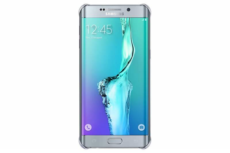 Чехол Samsung Glossy Cover, для Samsung Galaxy S6 Edge Plus, серебристый (EF-QG928MSEGRU) - фото 2