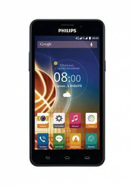 Смартфон Philips V526 Xenium темно-синий, встроенная память 8Gb, дисплей 5 1280x720, Android 5.1, камера 13Mpix, поддержка 3G, 4G, 2Sim, WiFi, BT, GPS, microSDXC до 64Gb (867000131355)