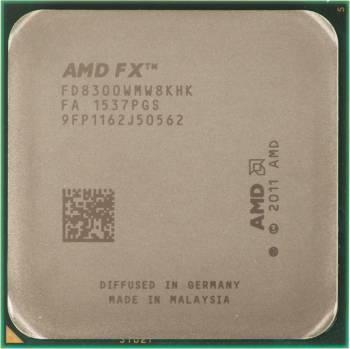 Процессор AMD FX 8300, Socket-AM3+, частота ядра 3.3ГГц, 8-ядерный, частота шины 5200МГц, L3 кэш 8Мб, тепловыделение 95Вт, Box (FD8300WMHKBOX)