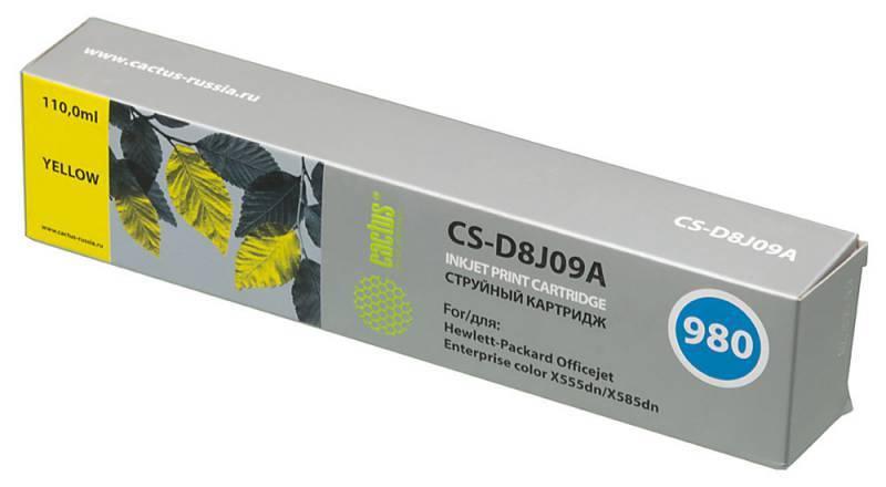 Картридж струйный Cactus CS-D8J09A №980 желтый - фото 1