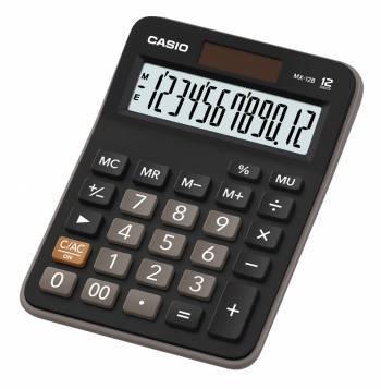 Калькулятор настольный Casio MX-12B черный (MX-12B-W-EC)