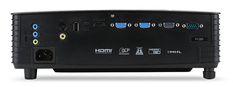 Проектор Acer P1285 черный (MR.JLD11.00K) - фото 5