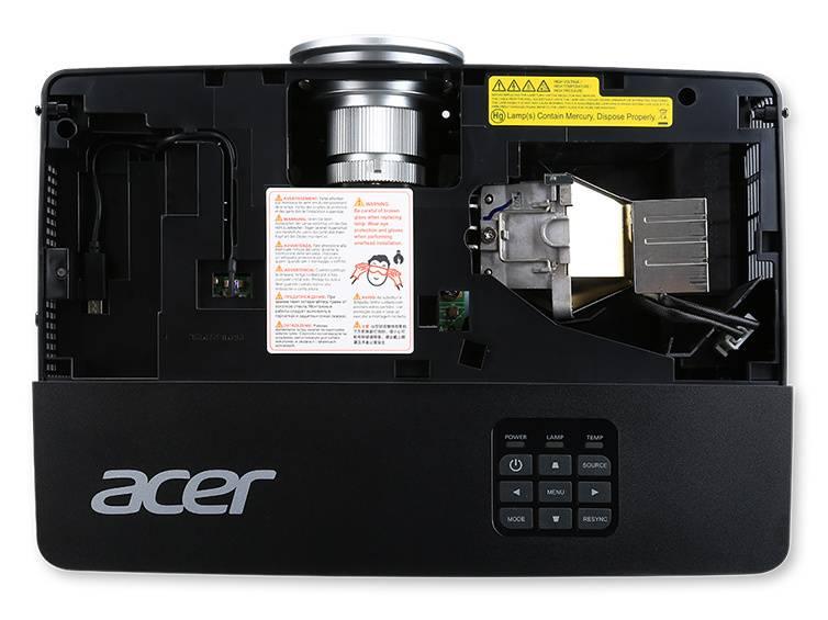 Проектор Acer P1285 черный (MR.JLD11.00K) - фото 7