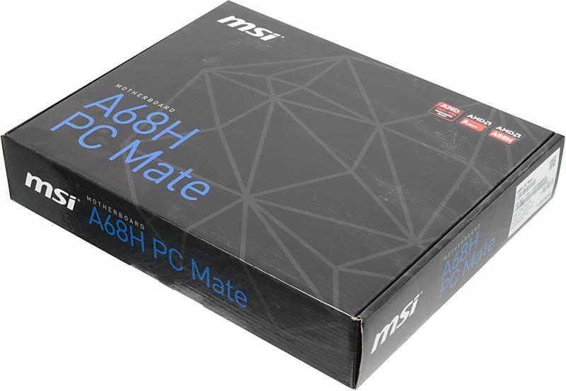 Материнская плата Soc-FM2+ MSI A68H PC MATE ATX - фото 5