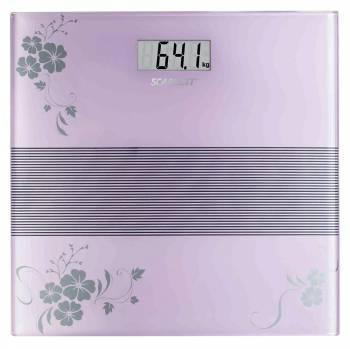 Весы напольные электронные Scarlett SC-BS33E060 фиолетовый/рисунок (SC - BS33E060)